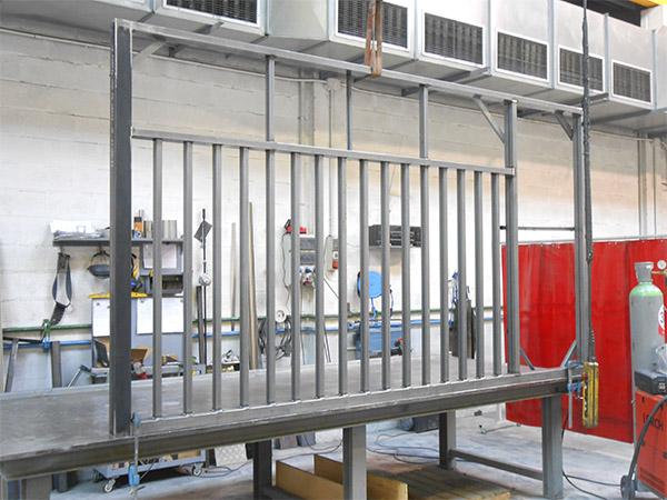 Puerta batiente de acero galvanizado para acceso a terreno - Puerta acero galvanizado ...